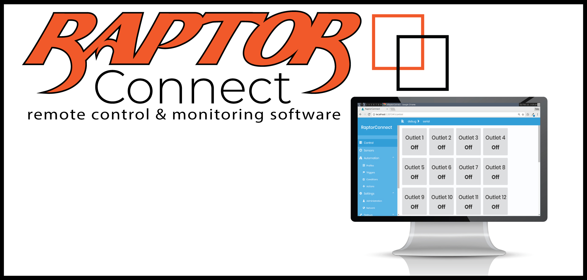 Raptor Connect Control and Monitoring Software